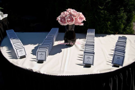 Coco Chanel White W Black Font 2x3 Place Cards