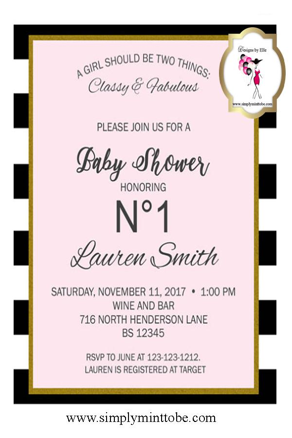 Coco chanel inspired white leather graphic invitations personalized coco chanel inspired white and pink baby shower invitation with chanel logo for all occasions with chanel logo personalized to your specification sold in filmwisefo