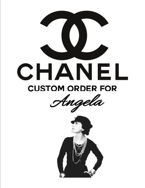 27fb55f5918b86 Custom Order for Angela (10) Chanel Party Inspired Black Tote Gift Bag  10x8x4 with personalized Chanel No 5 personalized 2 inch label for all  occasions ...