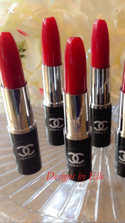 coco chanel black with white font lipstick seals for all