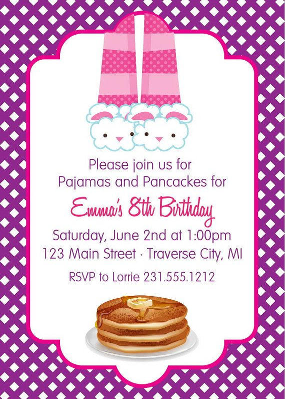 Diy Girls Pajama Party Sleepover Party Invite For All Occasions