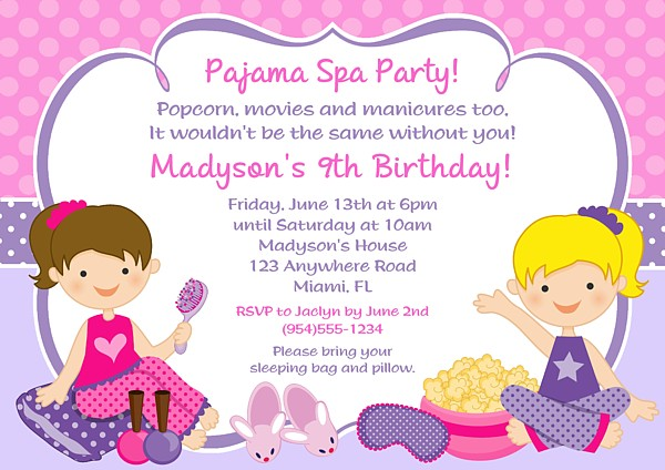 Diy girls pajama party sleepover party invite for all occasions diy girls sleepover pajama party invitation 4x6 digital order only birthday party digital order invite 7 filmwisefo