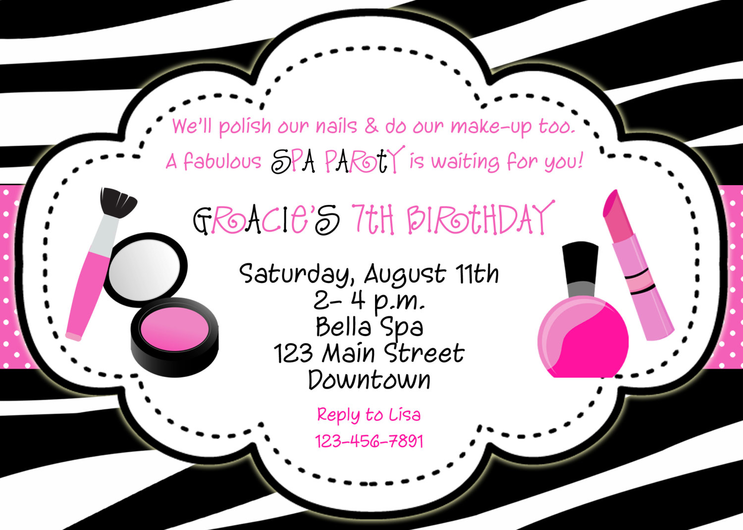 DIY Girls Pajama Party Sleepover Party Invite for all occasions ...