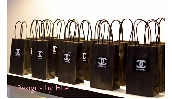 12215a35f627 Chanel Party Inspired Black Tote Gift Bag 10x8x4 2x2 Black Chanel Label  with White Logo for all occasions Weddings, Bridal Showers, Bachelorette  Parties, ...