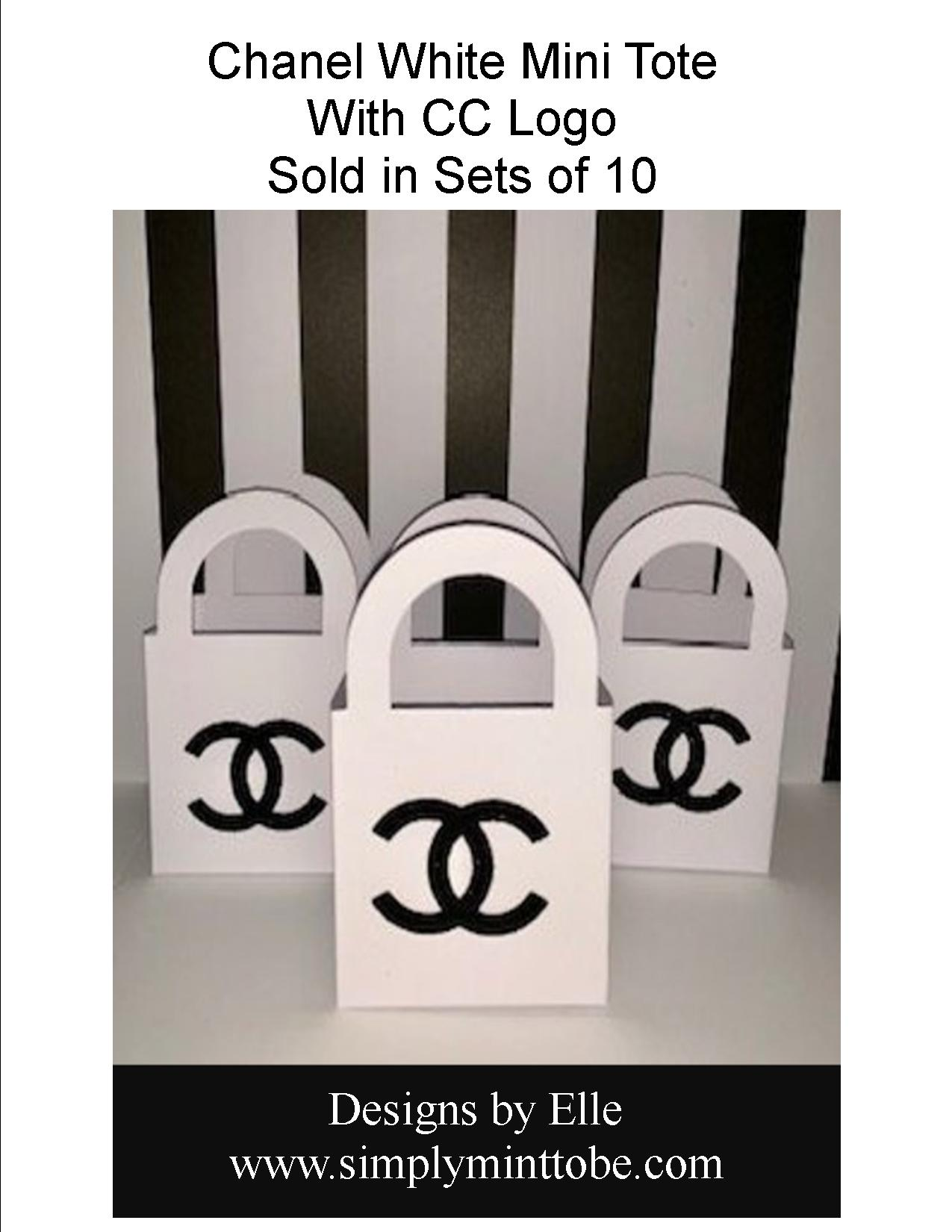 396e6573f1e4 Chanel Inspired Mini Purse Tote bag Favors for all occasions