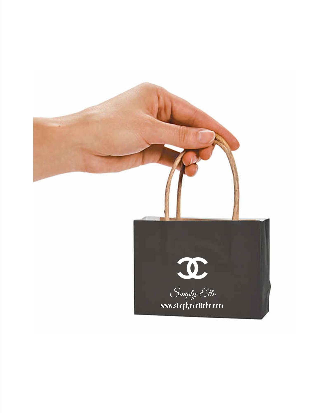 01c8d0a99c73 Coco Chanel Parisian Inspired Black Mini Purse Tote Bags with CC Logo Great  for all occassions