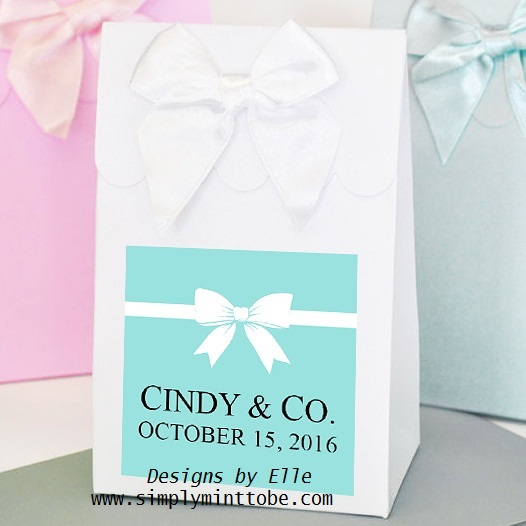 Tiffany And Company Inspired Breakffast At Tiffany Blue 3x3 Label Sticker For Gift Favor Wedding